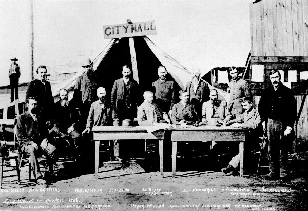 City Hall and 1st Council, 1886.